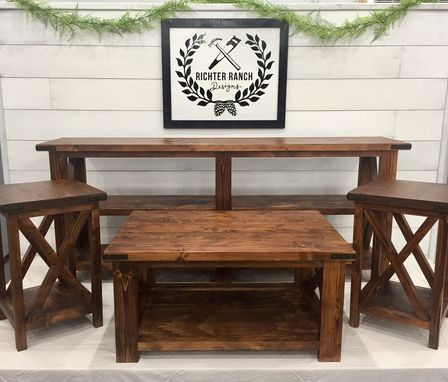 Custom Made Rustic Farmhouse Living Room Set