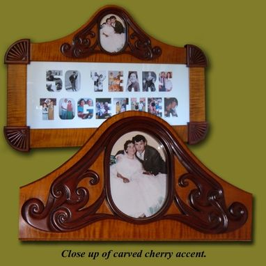 Custom Made Custom Carved Frame For 50th Anniversary Gift