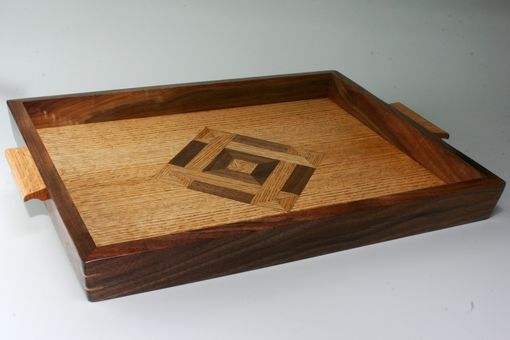 Custom Made Oak And Walnut Tray