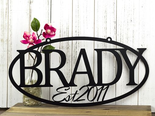 Laser Cut Metal Signs >> Buy a Hand Crafted Custom Metal Sign | Last Name Sign | Family Name Sign | Wedding Gift | Name ...
