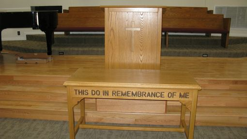 Handmade A Church Communion Table And Pulpit By Tom S
