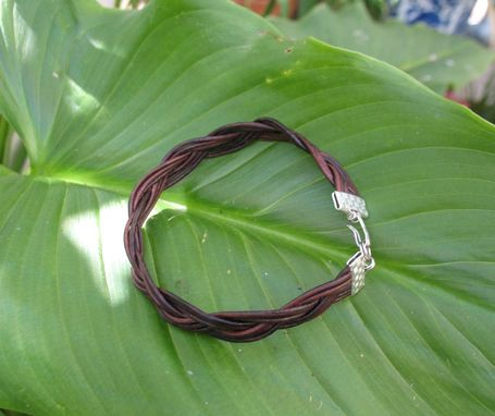 Custom Made Bracelet / Anklet / Men's Bracelet:  Turk's Head Knot From Leather Cord
