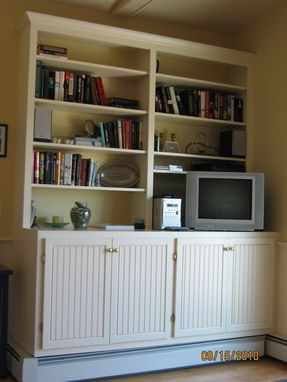 Custom Made Beadboard Entertainment Cabinet