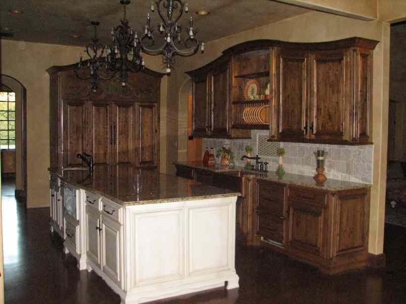 Hand Made Kitchen With Curved Crown Molding By Rhodes