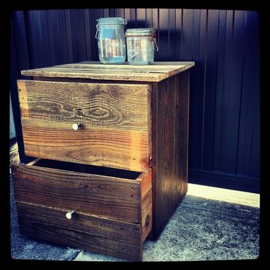 Custom Made Reclaimed Pallet Bedside Table