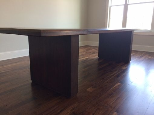 Custom Made Bevel Edged Walnut Dining Table