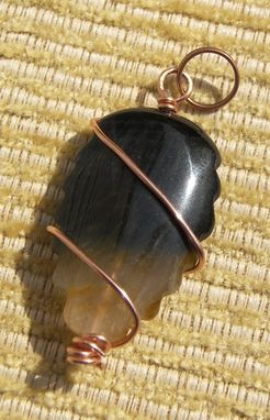 Custom Made Blue Tiger Eye Pendant