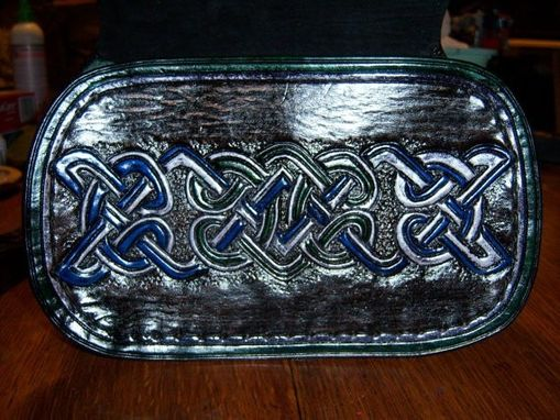 Custom Made Custom Shamrock Sporran Or Belt Bag With Pocket Book Inside
