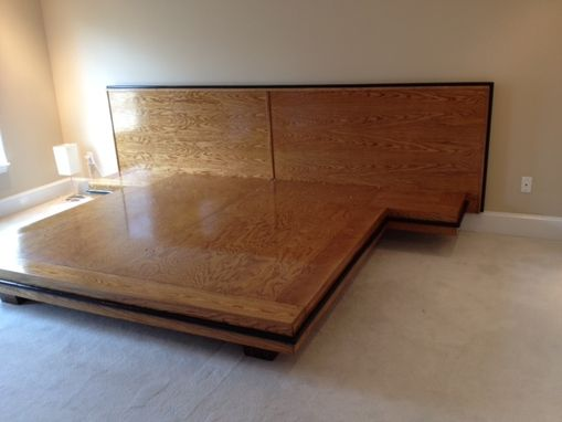 Custom Made White Oak Platform Bed
