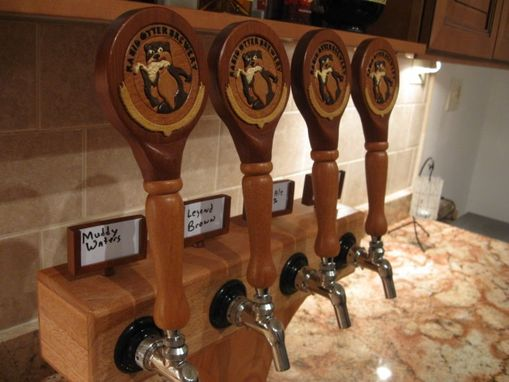 Custom Made Custom Intarsia Tap Handles And Tower