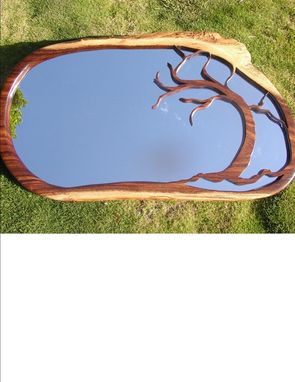 Custom Made Tree Mirror, Monkeypod