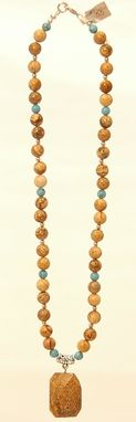 Custom Made Jasper And Turquoise Necklace And Earrings