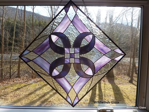 Custom Made Abstract Diamonds In Stained Glass