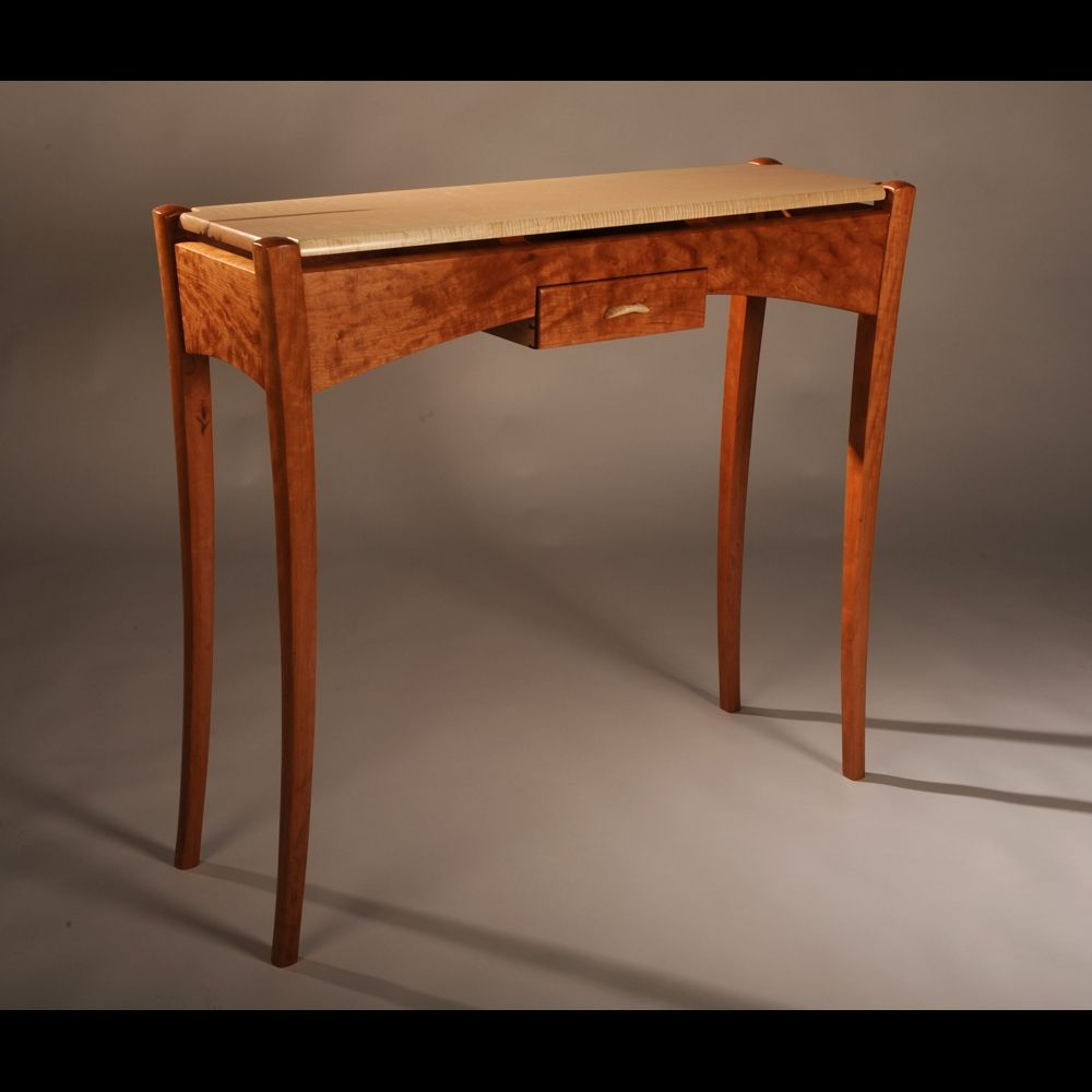 Hand Made Cherry Maple Hall Table By Blackstone Design