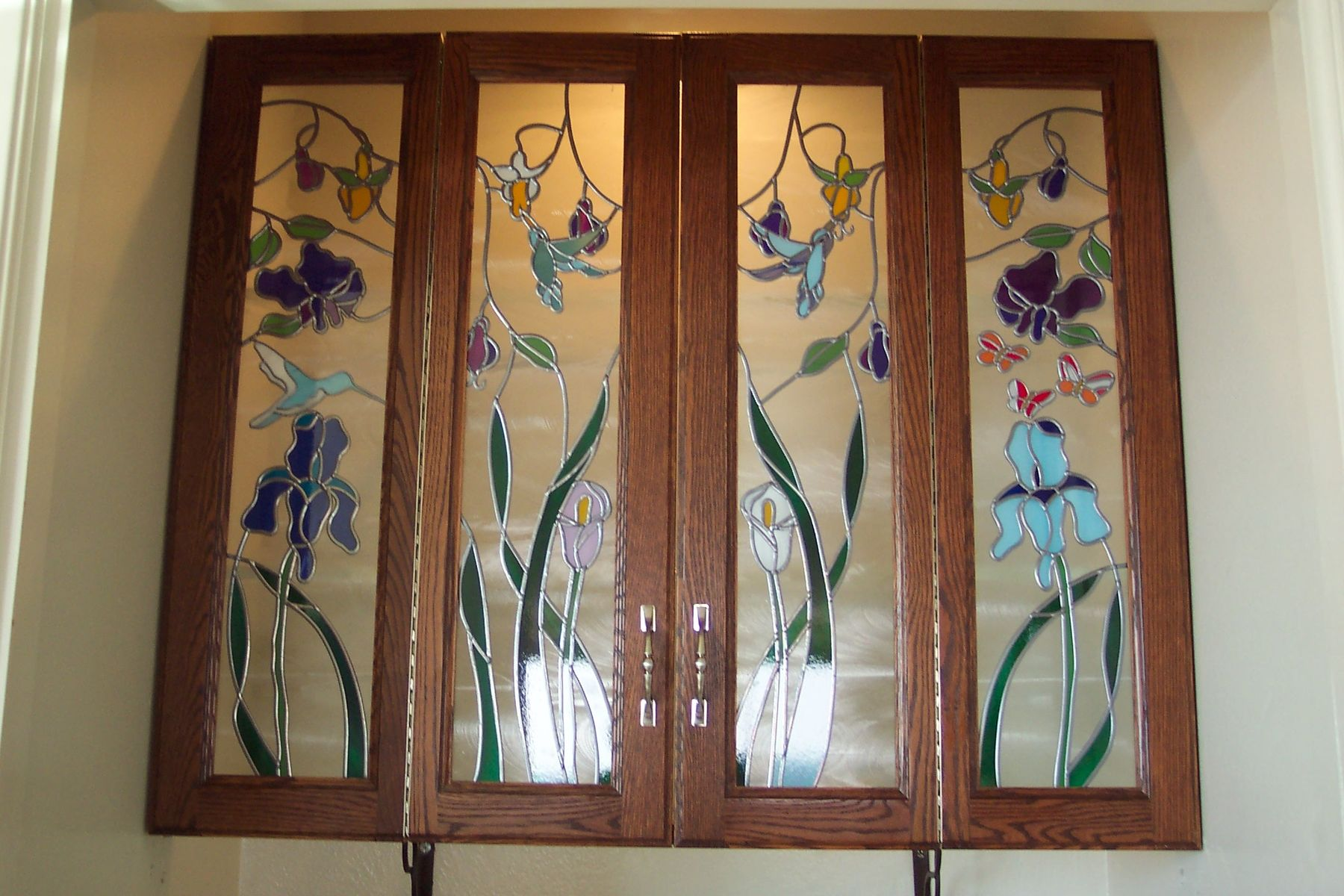 Custom Cabinet Door Art Glass by Sgo Designer Glass Of Los Angeles | CustomMade.com