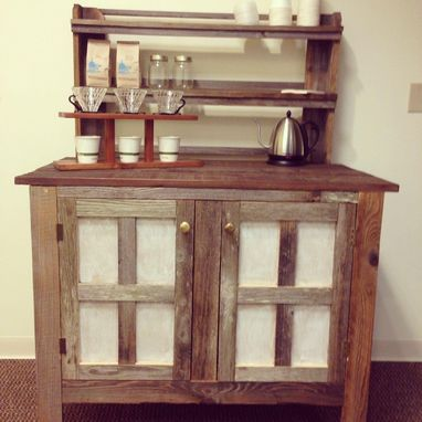 Custom Made Reclaimed Wood Coffee Bar By Urban Mining