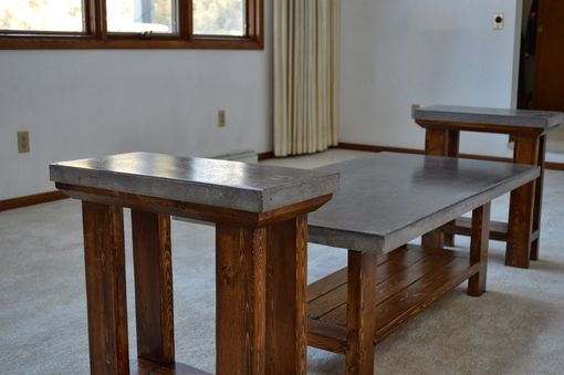 Custom Made Concrete Table Set