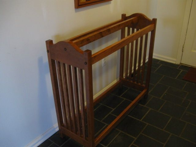 Handmade New Solid Cherry Wood Mission Style Quilt Rack Stand ... : wood quilt rack - Adamdwight.com