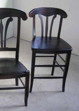 Custom Made Black Cottage Style Dining Room Chairs