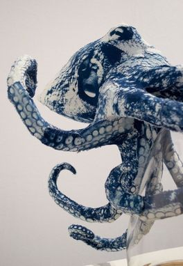 Custom Made Octopus: Magnetic Cyanotype Sculpture