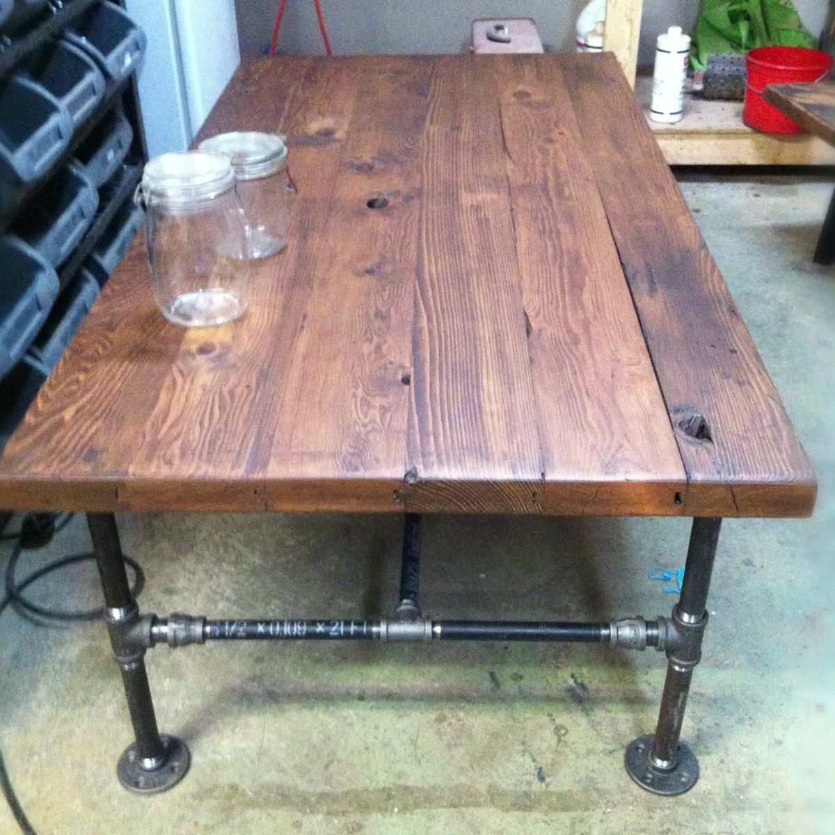 Custom made barn wood cast iron pipe coffee table by js reclaimed custom made barn wood cast iron pipe coffee table by js reclaimed wood custom furniture custommade watchthetrailerfo