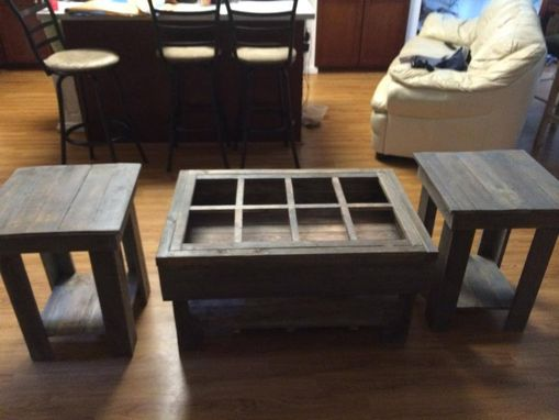 Custom Made Pallet End Table And Coffee Set