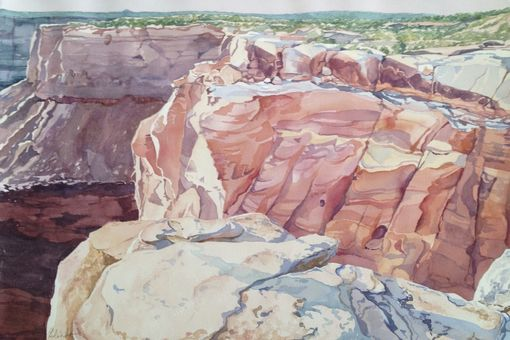 Custom Made Watercolor Paintings Of The American West