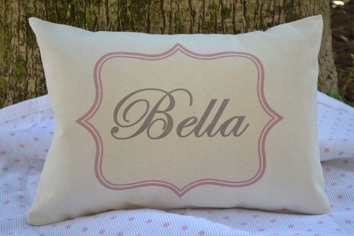 Custom Made Girls Personalized Name Pillow Cover 12 X 16
