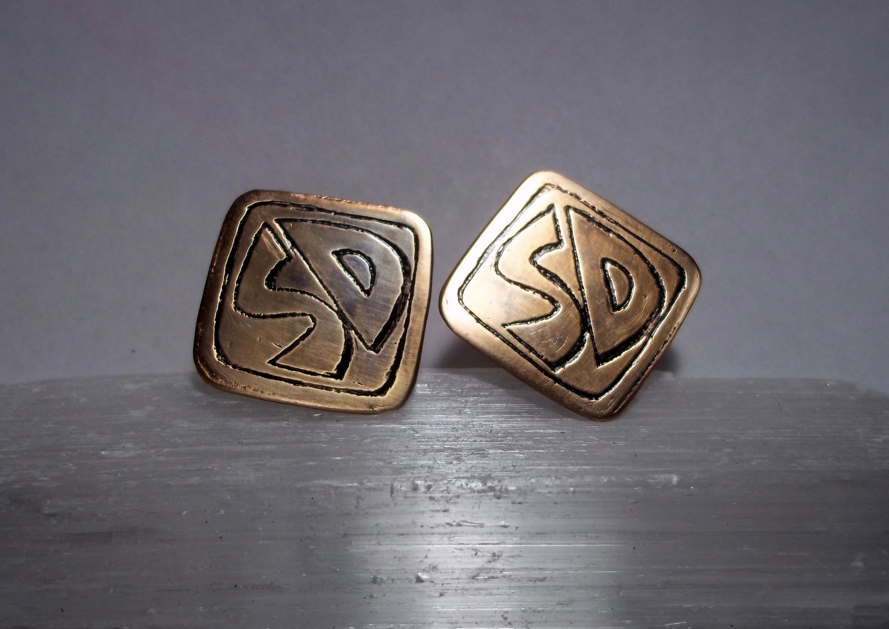 Custom Made Scooby Doo Bronze Cufflinks