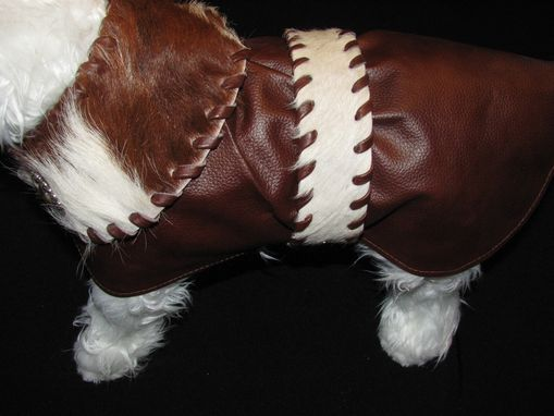 Custom Made Western Leather And Hair-On Cowhide Dog Clothes