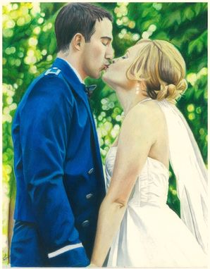 Custom Made Colored Wedding Portrait Drawing