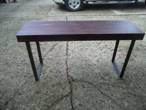 Custom Made Farmhouse Style Desk With Steel Legs