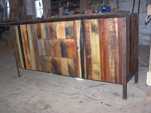Custom Made Modern Buffet Design Handcrafted From Reclaimed Wood