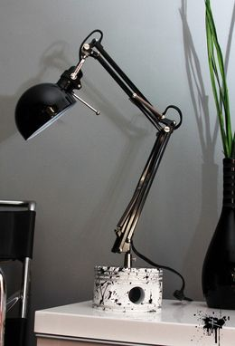 Custom Made Wwii Jacobs Splay Radial Engine Piston Desk Lamp In Black And White
