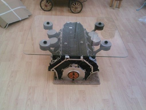 Custom Made Mustang Engine Table