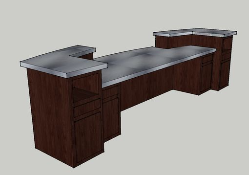 Custom Made 13′ Dual Level Frosted Plex Desk