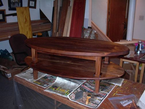 Custom Made Solid Walnut Oval Table