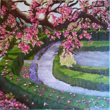 Custom Made Brooklyn Garden Spring Oil Painting