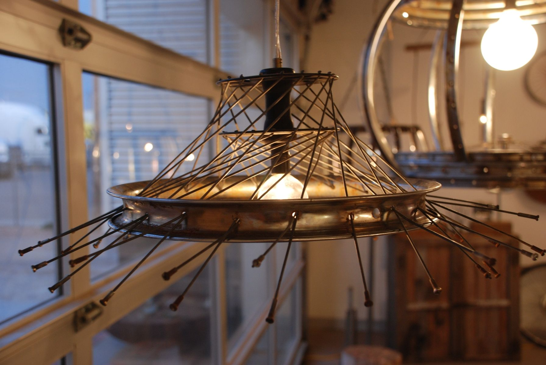 Hand Made Recycled Bike Pendant Light By Remain Eco Design Custommade Com