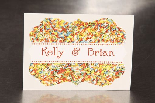 Custom Made Custom Wedding Stickers Die Cut - Sprinkles - Guest Bag Labels - Candy Bar Stickers