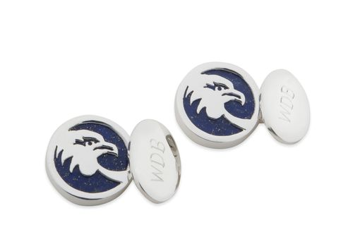 Custom Made Cufflinks As Gifts With Monograms Silver And Stone