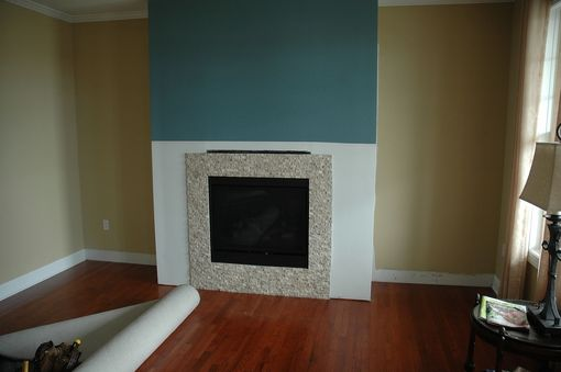 Custom Made Built-In Bookcases, Base Cabinets And Fireplace Surround