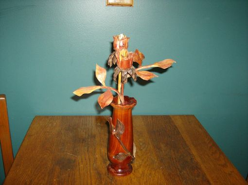 Custom Made Hand Crafted Vases And Flowers