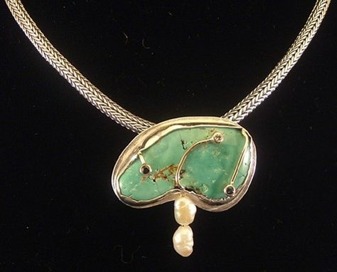 Custom Made Turquoise Pendant