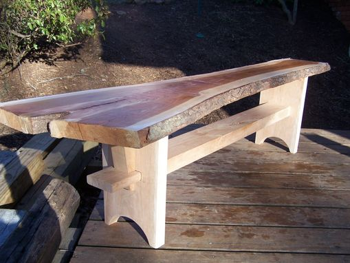 Custom Made Asian Style Cherry Slab Bench