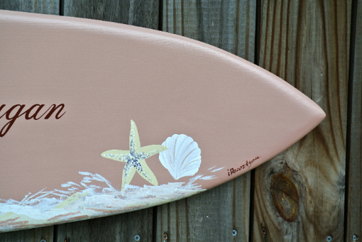 Custom Made Sea Star Guestbook, Wood Guest Book Surfboard, Beach Wedding Decor