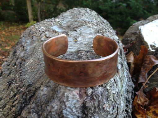 Custom Made Custom Copper Hammered Cuff Style Bangle