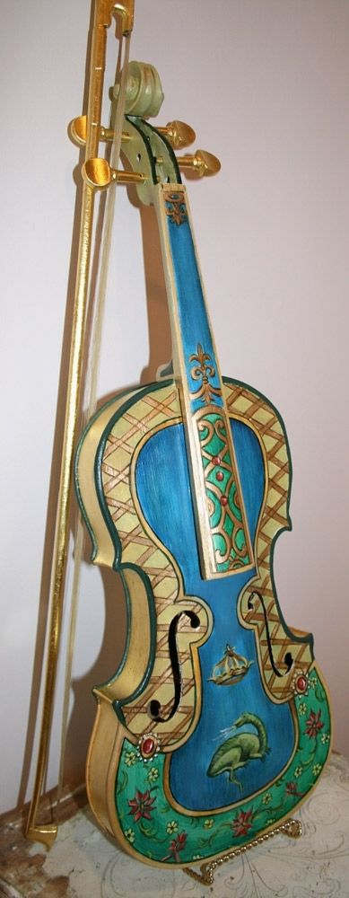 Handmade Hand Painted Violin By Zulim Bowers Designs Custommade Com