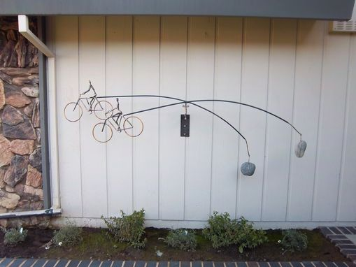 Custom Made Wall Kinetic Sculpture - Bicycle Pair 2011