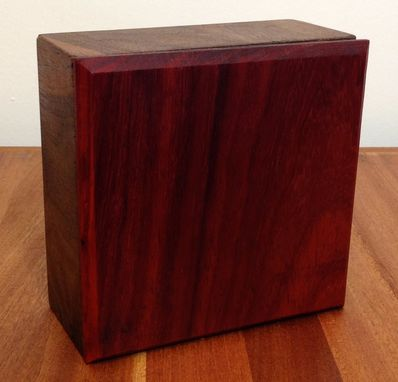 Custom Made Padauk Lidded Walnut Box